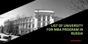 List of University for MBA program in Russia